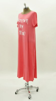 Vestido Amplo Silk Freedom Is My Mood Chiclete