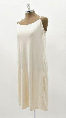 Vestido Suedinho Básico Areia Combinação Vestido Tela