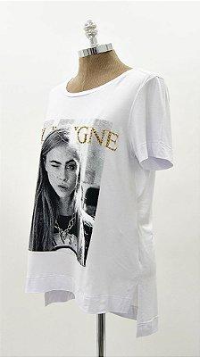 T-shirt Estampa Quadri Ouro Branca