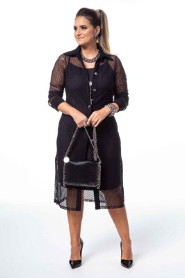 Vestido Tela Suede Preto Authentic Passion