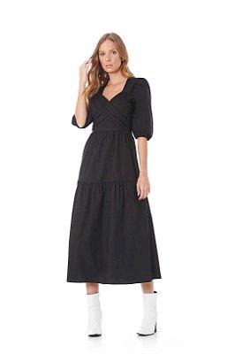Vestido Tricoline 3 Marias Faixa Transpassada