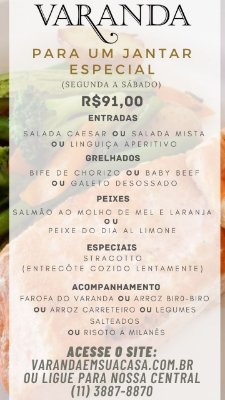Jantar Especial - Peixe do dia Al Limone