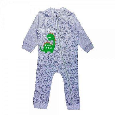 MACACÃO INFANTIL SUEDINE BABY MESCLA - 3-6 MESES
