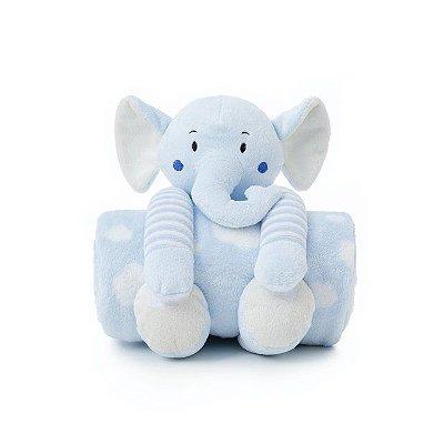 Cobertor e Elefantinho de Pelúcia Antialérgico
