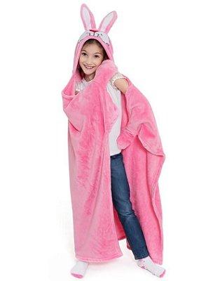Cobertor TV Infantil Coelho Rosa Antialérgico