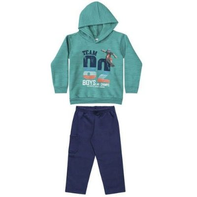 Conjunto Brandili Moletom Team 82 Boys and Champs Verde