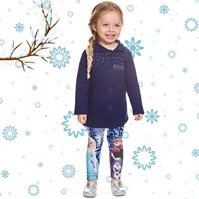 Brandili Conjunto Infantil Frozen Aventura Congelante Licenciado Disney Rosa