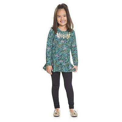 Conjunto Brandili Infantil Menina Natural e Verde
