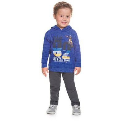 Conjunto Brandili Moletom Team 82 Boys and Champs Azul