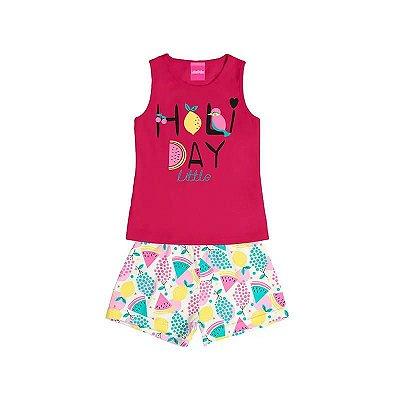 Conjunto Infantil Menina Holi Day Little Rosa – Luka Puka