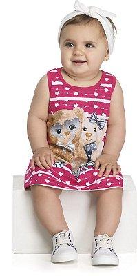 Vestido Infantil Bebê Meia Malha Penteada Selfie - Kely Kety