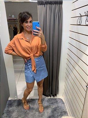 Short saia assimétrico