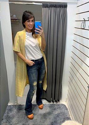 Kimono  amarelo/bege - Peça única
