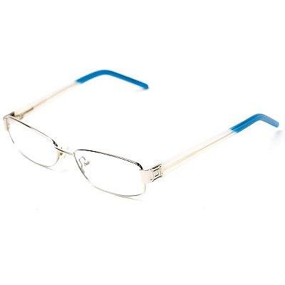 Óculos de Grau Camou Metal azul