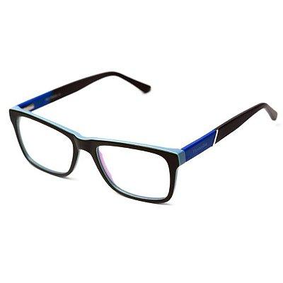 Armação de Óculos Camou Preto e Azul