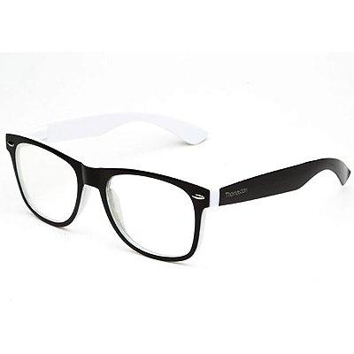Armação de óculos Camou Reeves Preto e Branco