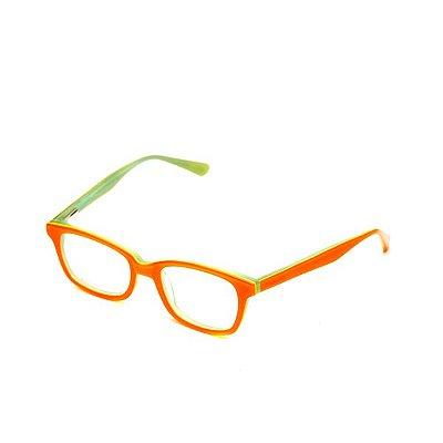 Armação de Óculos Infantil Camou Laranja e Verde