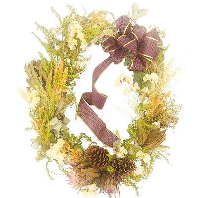 Guirlanda de flores desidratadas  ( Tamanho 60X60)
