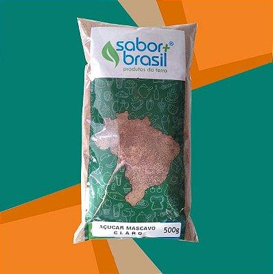 AÇÚCAR MASCAVO CLARO 500g - SABOR MAIS BRASIL