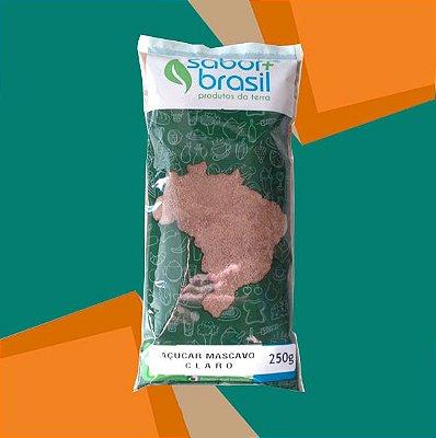AÇÚCAR MASCAVO CLARO 250g - SABOR MAIS BRASIL