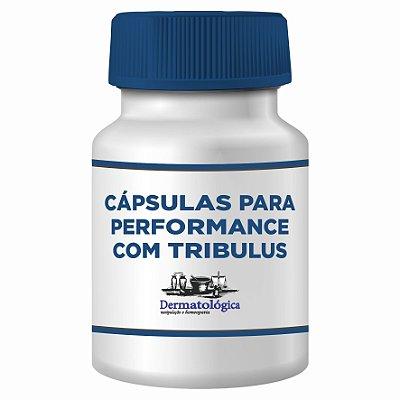 Cápsulas para performance com Tribulus - Pré treino