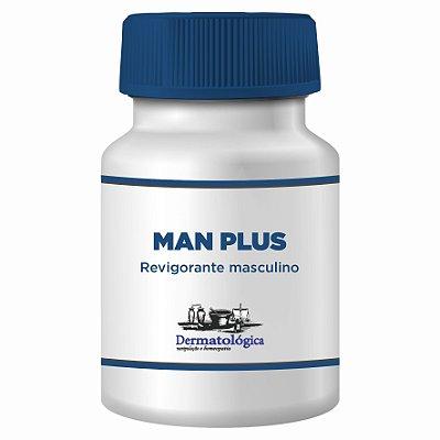 Man Plus - Cápsulas Revigorantes com  Long Jack, Catuaba e  Marapuama - 60 doses