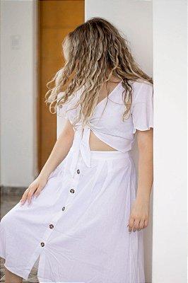 Vestido Cropped Off White