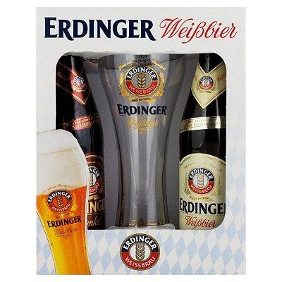 Kit de Cerveja Erdinger 2 Garrafas 1 Copo
