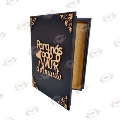 Porta Álbum Casamento/Formatura em MDF