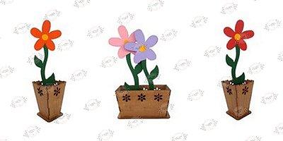 Vaso Flores em MDF