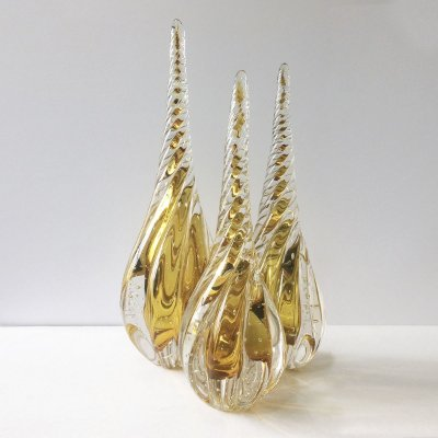 Conjunto Peças de Decoração Cristal Dourado