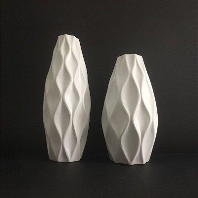 Conjunto Vasos Brancos Foscos
