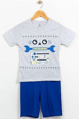 Pijama infantil camiseta manga curta e bermuda brandili