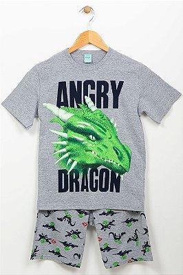 Pijama juvenil camiseta e bermuda kyly