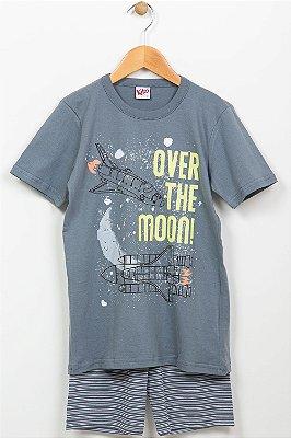 Pijama infantil camiseta e bermuda kiko