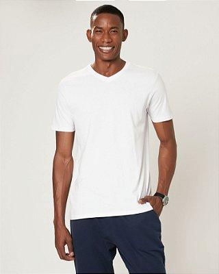 Camiseta básica manga curta lisa malwee