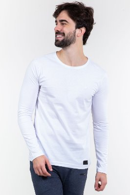 Camiseta básica manga longa colisão