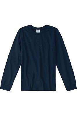 Camiseta manga longa lisa malha uv malwee