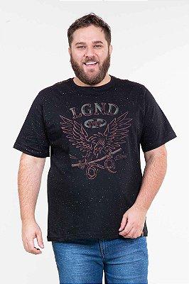 Camiseta manga curta com estampa plus size