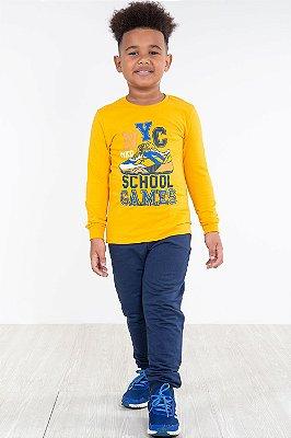 Conjunto infantil camiseta e calça malwee