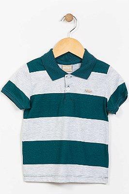 Camiseta infantil manga curta gola polo milon