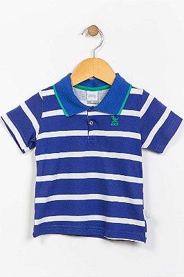 Camiseta infantil manga curta gola polo alakazoo