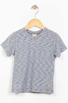 Camiseta infantil manga curta mescla milon