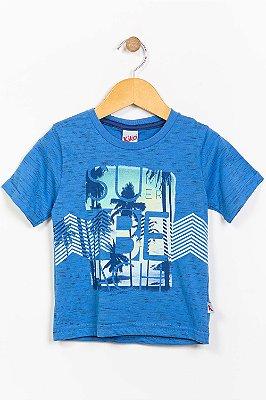 Camiseta infantil manga curta com estampa kiko