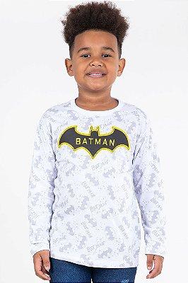 Camiseta manga longa estampa batman fakini