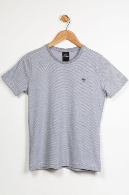 Camiseta juvenil manga curta listrada bgo