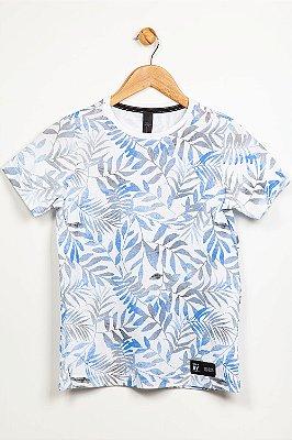 Camiseta juvenil manga curta estampada colisão