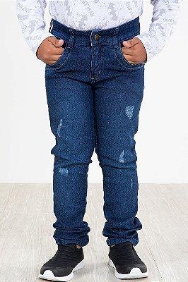 Calça jeans infantil com desgaste
