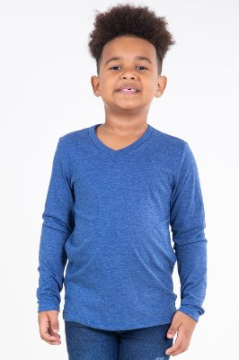 Camiseta infantil manga longa mescla malwee