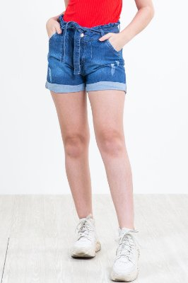 Shorts jeans clochard juvenil com desgaste